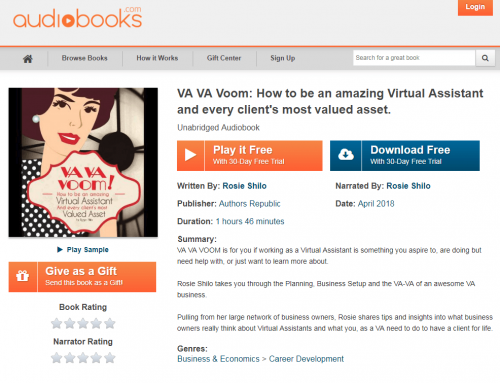 VA VA Voom is now available as an AudioBook!