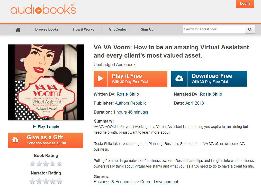 VA VA Voom is now available as an AudioBook! - Virtually Yours